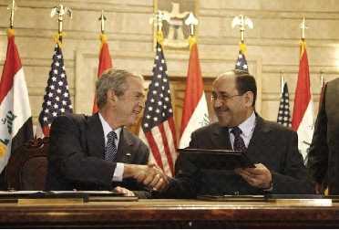 Bush och Maliki